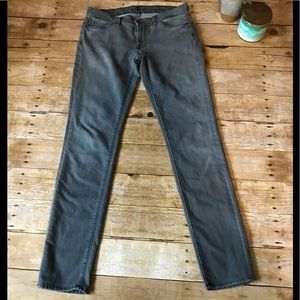 7 for all mankind, size 29 grey jeans,straight leg